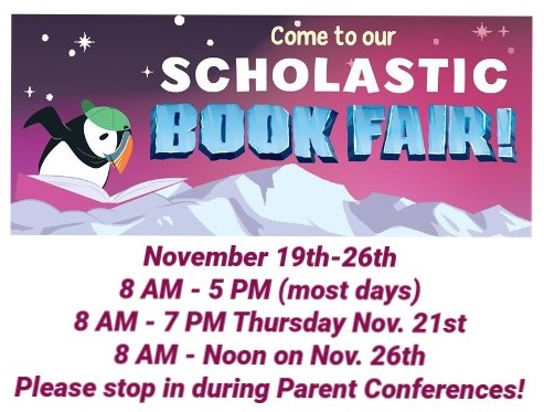 The Scholastic Book Fair Is in Orchard School's Library!