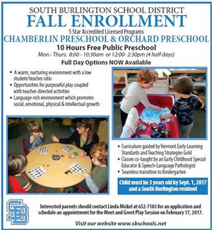 Pre-School Fall Enrollment